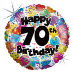 70th Birthday balloon