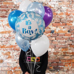 its a boy balloon bouquet