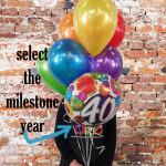 Milestone Birthday Balloon Bouquet