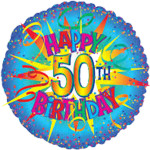 50th Birthday Helium Balloon